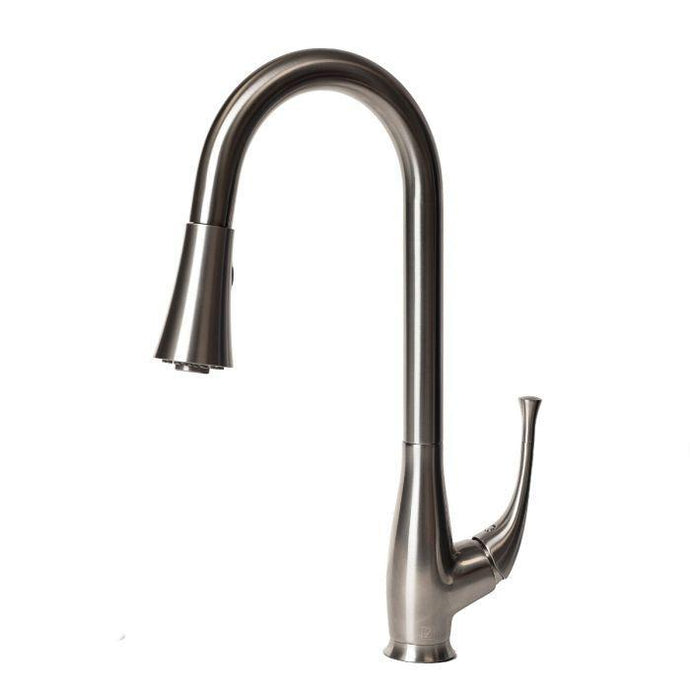 ZLINE Castor Kitchen Faucet in Brushed Nickel (CAS-KF-BN) - Bison Kitchens