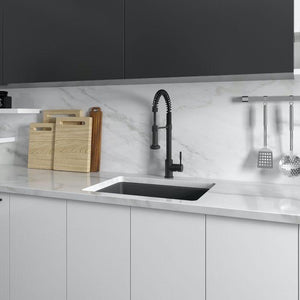 ZLINE 24 In. Rome Dual Mount Fireclay Sink In Charcoal - FRC5123-CL-24 - Bison Kitchens