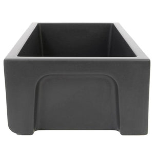 ZLINE 33 In. Venice Farmhouse Reversible Fireclay Sink in Charcoal - FRC5131-CL-33 - Bison Kitchens