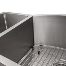 Load image into Gallery viewer, ZLINE Aspen 33 In. Undermount Double Bowl Sink in Stainless Steel - SC30D-33 - Bison Kitchens