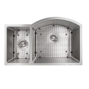 ZLINE Aspen 33 In. Undermount Double Bowl Sink in Stainless Steel - SC30D-33 - Bison Kitchens