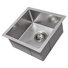 Load image into Gallery viewer, ZLINE Boreal 15 In. Undermount Single Bowl Bar Sink in DuraSnow® Stainless Steel - SUS-15S - Bison Kitchens