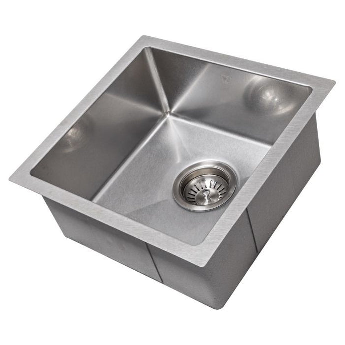 ZLINE Boreal 15 In. Undermount Single Bowl Bar Sink in DuraSnow® Stainless Steel - SUS-15S - Bison Kitchens