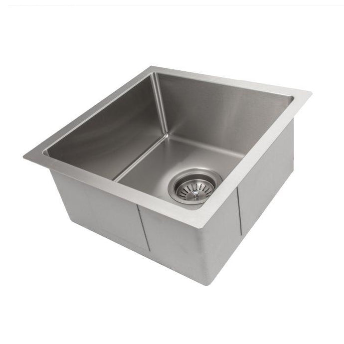 ZLINE Boreal 15 In. Undermount Single Bowl Bar Sink in Stainless Steel - SUS-15 - Bison Kitchens