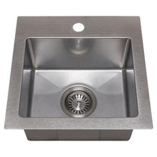 Load image into Gallery viewer, ZLINE Donner 15 In. Topmount Single Bowl Bar Sink in DuraSnow® Stainless Steel - STS-15S - Bison Kitchens
