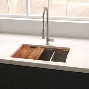 ZLINE Garmisch 27 In. Undermount Single Bowl Sink in DuraSnow® Stainless Steel - SLS-27S - Bison Kitchens