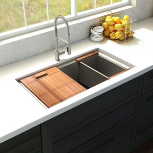 ZLINE Garmisch 27 In. Undermount Single Bowl Sink in Stainless Steel - SLS-27 - Bison Kitchens