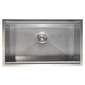 ZLINE Garmisch 30 In. Undermount Single Bowl Sink in DuraSnow® Stainless Steel - SLS-30S - Bison Kitchens