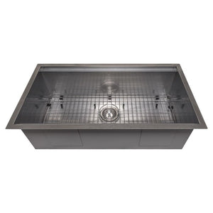 ZLINE Garmisch 33 In. Undermount Single Bowl Sink in DuraSnow® Stainless Steel - SLS-33S - Bison Kitchens