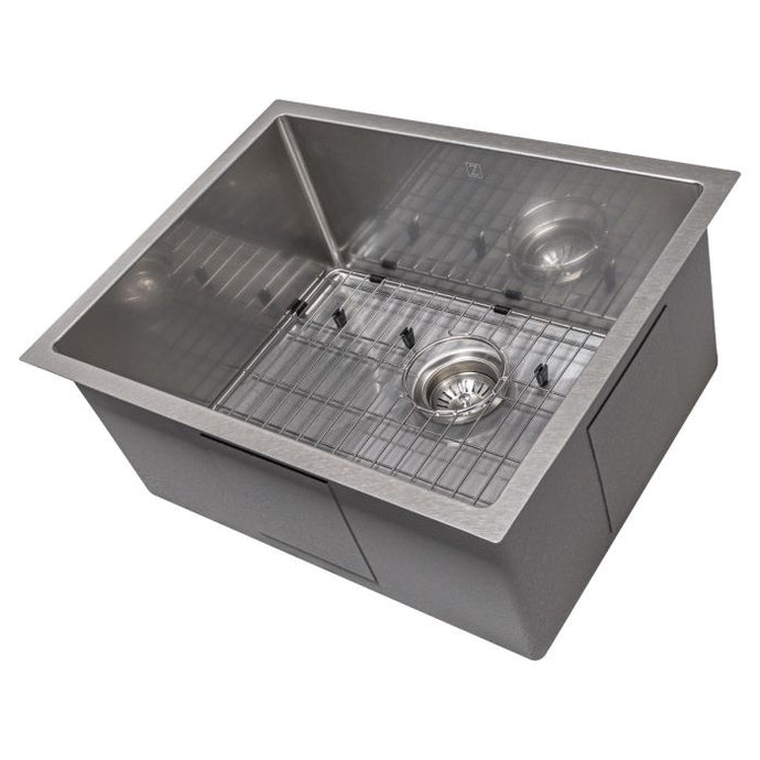 ZLINE Meribel 23 In. Undermount Single Bowl Sink in DuraSnow® Stainless Steel - SRS-23S - Bison Kitchens