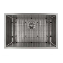 Load image into Gallery viewer, ZLINE Meribel 27 In. Undermount Single Bowl Sink in Stainless Steel - SRS-27 - Bison Kitchens