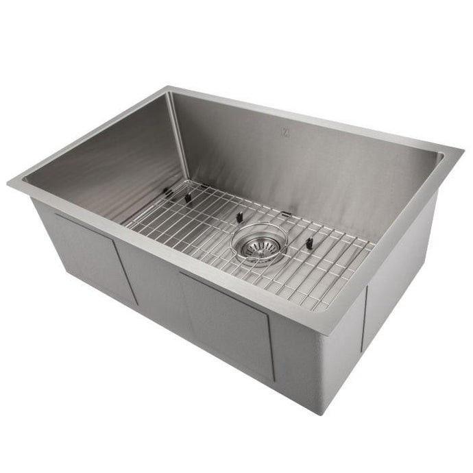 ZLINE Meribel 30 In. Undermount Single Bowl Sink in Stainless Steel - SRS-30 - Bison Kitchens