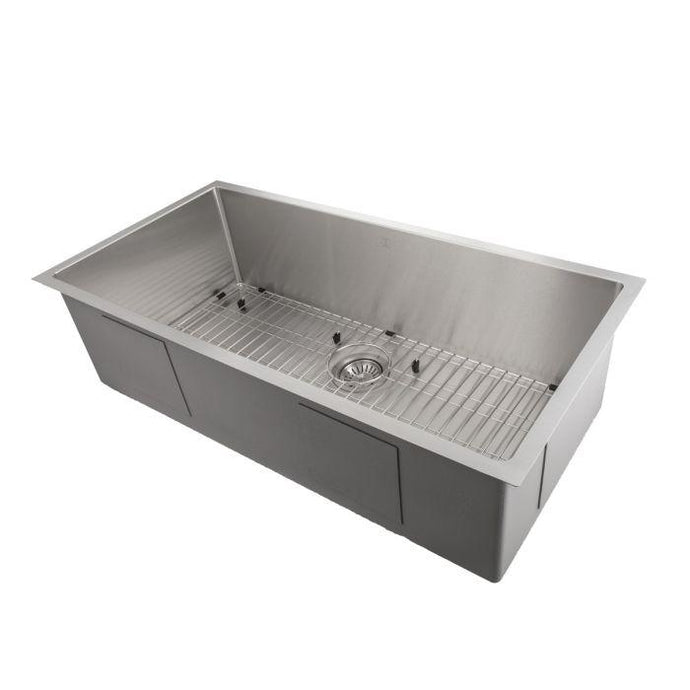 ZLINE Meribel 33 In. Undermount Single Bowl Sink in Stainless Steel - SRS-33 - Bison Kitchens