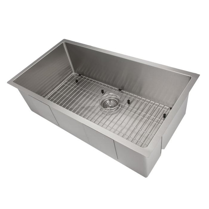 ZLINE Meribel 36 In. Undermount Single Bowl Sink in Stainless Steel - SRS-36 - Bison Kitchens