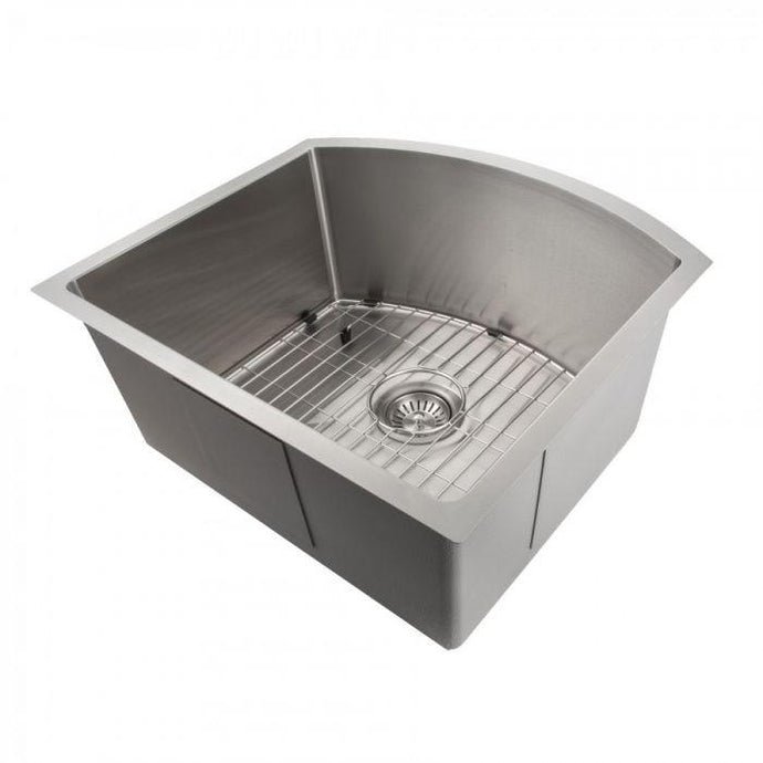 ZLINE Telluride 22 In. Undermount Single Bowl Sink in Stainless Steel - SCS-22 - Bison Kitchens