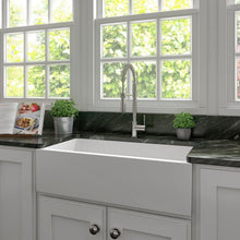 Load image into Gallery viewer, Kitchen Sinks - ZLINE Venice Farmhouse Reversible Fireclay Sink In White Matte - (FRC5122-WM-36)