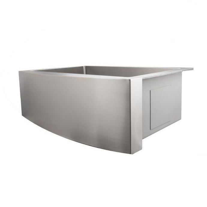 ZLINE Zermatt Farmhouse 30 In. Undermount Single Bowl Sink in Stainless Steel - SAS-30 - Bison Kitchens