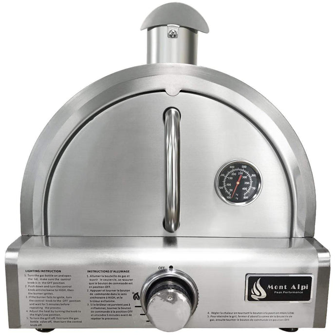 Mont Alpi Portable Propane Gas Outdoor Pizza Oven - MAPZ-SS - Bison Kitchens