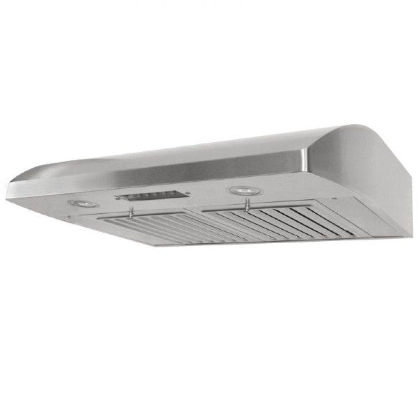 KOBE 30-36 in. Brillia Under Cabinet Range Hood in Stainless Steel - CHX2230SQB-1 - Bison Kitchens
