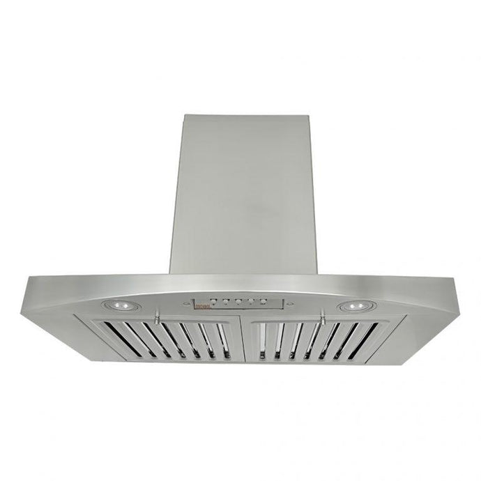 KOBE 30-36 in. Premium Wall Mount Range Hood in Stainless Steel - RA3830SQB-WM-1 - Bison Kitchens