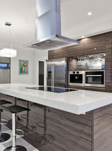 Load image into Gallery viewer, KOBE 30-42 in. Brillia Island Range Hood in Stainless Steel - ISX2130SQB-2 - Bison Kitchens