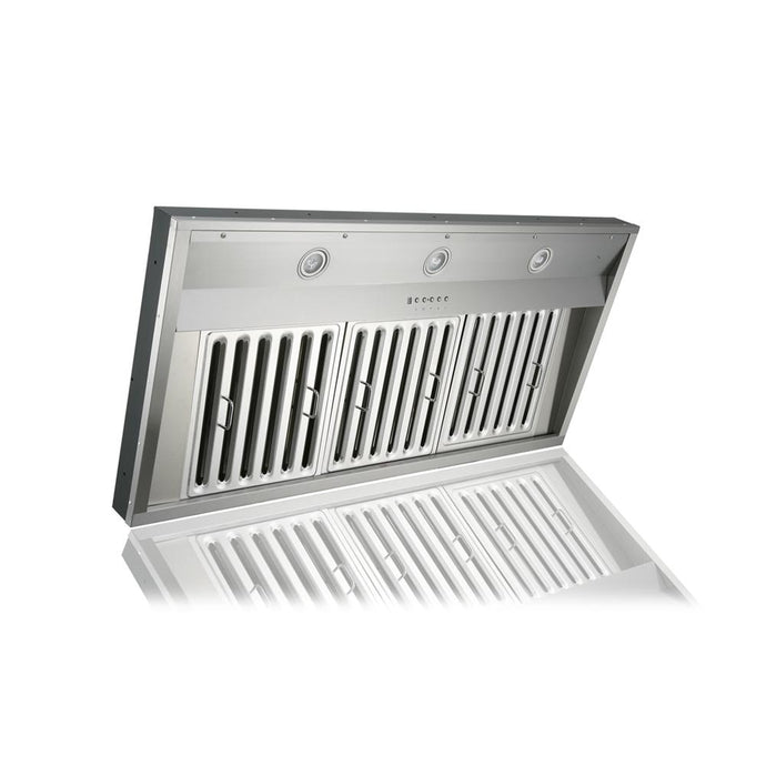 KOBE 36-48 in. Premium Built-In/Insert Range Hood in Stainless Steel - IN2636SQB-1200-1 - Bison Kitchens