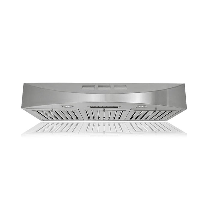 KOBE Brilla 30-36 in. Ductless Recirculating Under Cabinet Stainless Range Hood - CHX3830SQBD-3 - Bison Kitchens