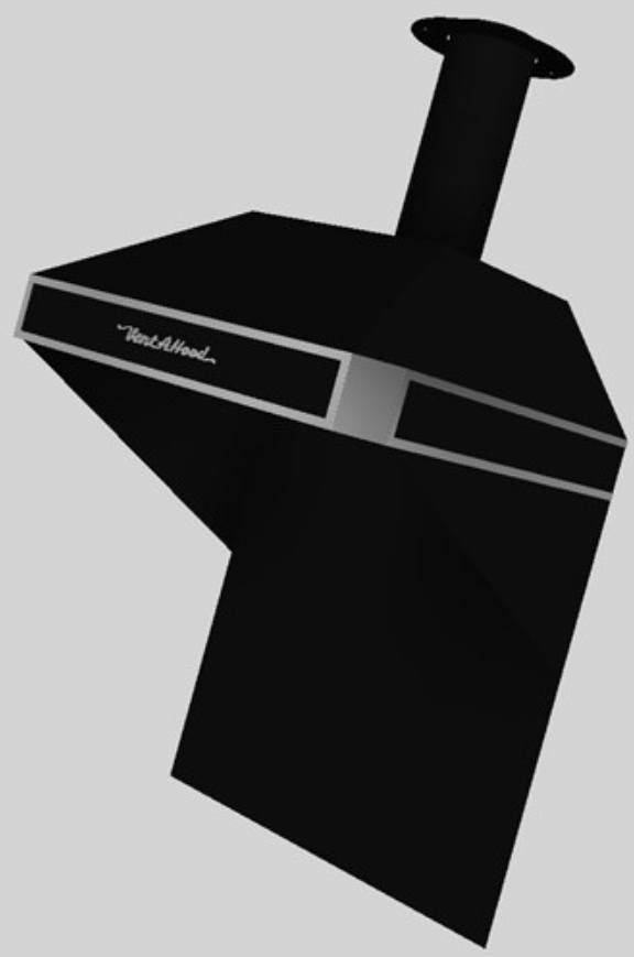 Vent-A-Hood® A Series 30-48 in. Retro Style Wall Mounted Range Hood-Black-AH12-130 BL - Bison Kitchens