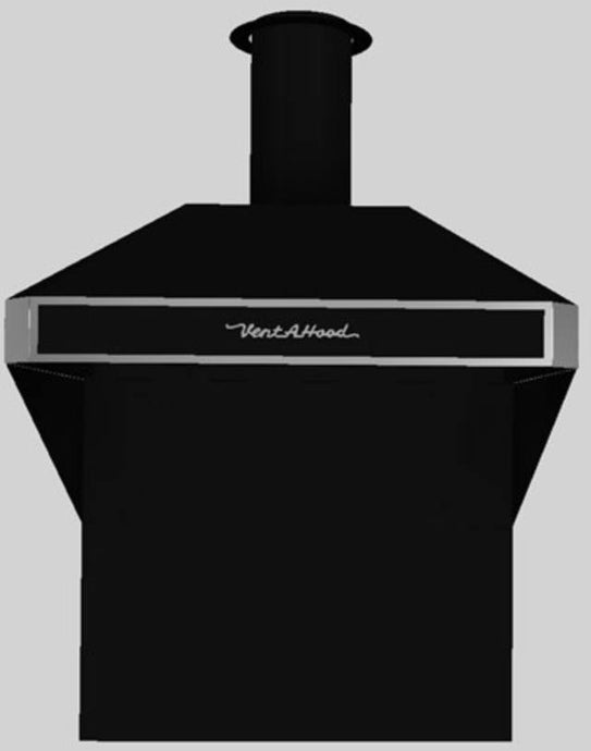 Vent-A-Hood® A Series 36-48 in. 600 CFM Retro Style Wall Mounted Range Hood - Black - AH12-236 BL - Bison Kitchens