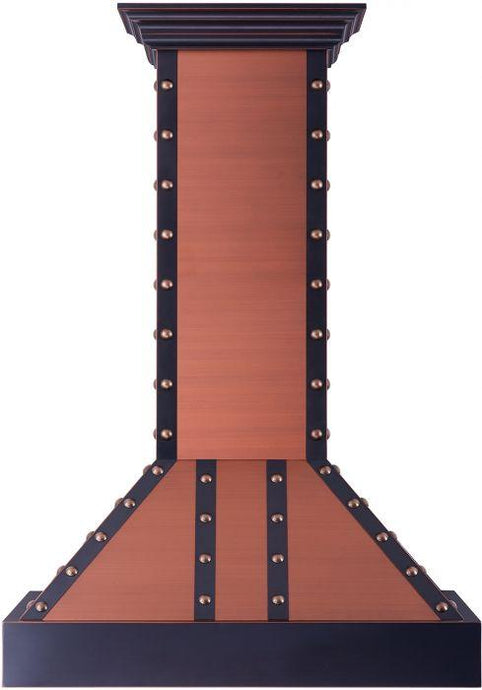 ZLINE 30-36 in. Designer Series Copper Finish Wall Range Hood (655-Cbbbb-30) - Bison Kitchens