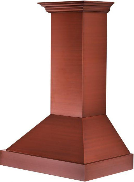 ZLINE 30-36 in. Designer Series Copper Finish Wall Range Hood (655-CCXXX-30) - Bison Kitchens