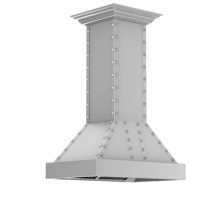 ZLINE 30-36 In. Designer Series Stainless Island Range Hood - 655i-4SSSS-30 - Bison Kitchens