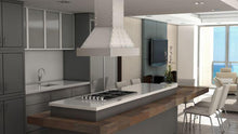Load image into Gallery viewer, ZLINE 30-36 In. Designer Series Stainless Island Range Hood - 655i-4SSSS-30 - Bison Kitchens