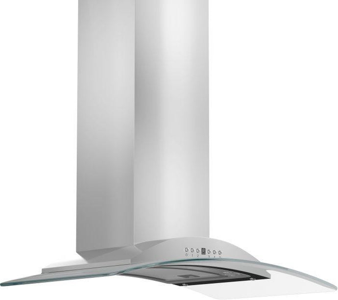 ZLINE 30-36 in. Glass and Stainless Steel Wall Range Hood (KN-30) - Bison Kitchens