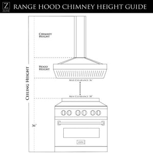 ZLINE 30-36 in. Island Glass and Stainless Steel Range Hood (GL9i-30) - Bison Kitchens