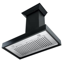 Load image into Gallery viewer, ZLINE 30-36 in. Wooden Wall Mount Range Hood in Black - Includes Remote Motor (KBCC-RD-30) - Bison Kitchens