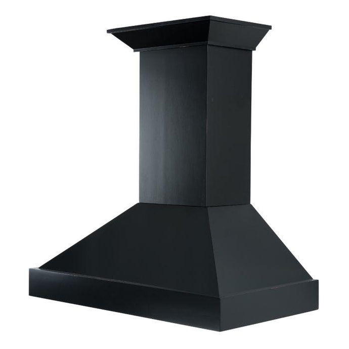 ZLINE 30-36 in. Wooden Wall Mount Range Hood in Black Stainless Steel - (KBCC-RS-30-400) - Bison Kitchens