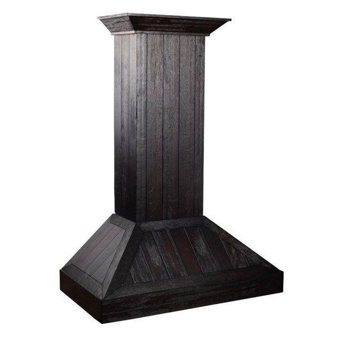ZLINE 30-36 In. Wooden Wall Mount Range Hood In Rustic Dark Finish - KPDD-30 - Bison Kitchens