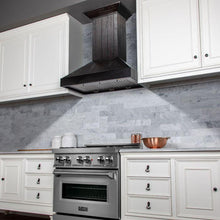 Load image into Gallery viewer, ZLINE 30-36 In. Wooden Wall Mount Range Hood In Rustic Dark Finish - KPDD-30 - Bison Kitchens
