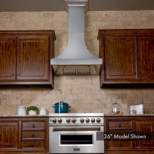 ZLINE 30-48 in. Designer Series DuraSnow® Stainless Steel Wall Range Hood (8632S-30) - Bison Kitchens
