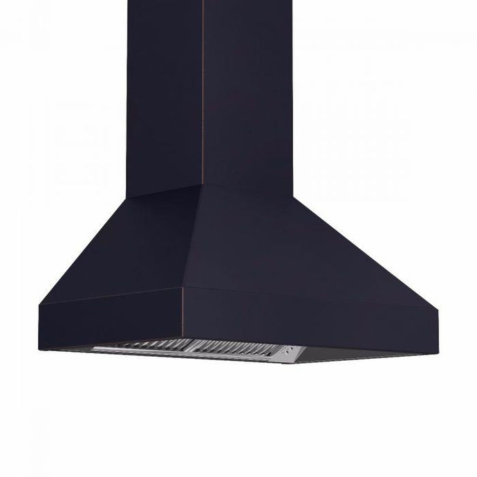 ZLINE 30-48 In. Designer Series Oil-Rubbed Bronze Wall Range Hood - 8597B-30 - Bison Kitchens