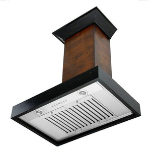 ZLINE 30-48 in. Designer Series Wooden Wall Range Hood (KBAR-30) - Bison Kitchens