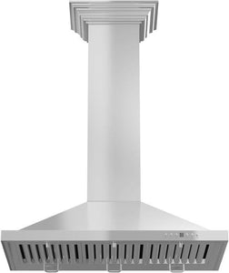 ZLINE 30-48 in. Wall Range Hood with Crown Molding (KBCRN-30) - Bison Kitchens
