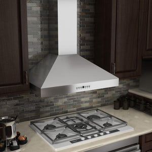 ZLINE 30-48 in. Wall Range Hood with Crown Molding (KL3CRN-30) - Bison Kitchens