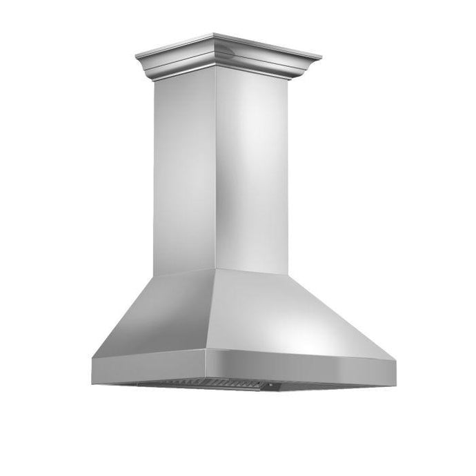 ZLINE 30-60 in. Wall Range Hood with Crown Molding (597CRN-30) - Bison Kitchens