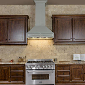 ZLINE 30-36 in. Designer Series Wooden Wall Range Hood with Crown Molding (321UU-30) - Bison Kitchens