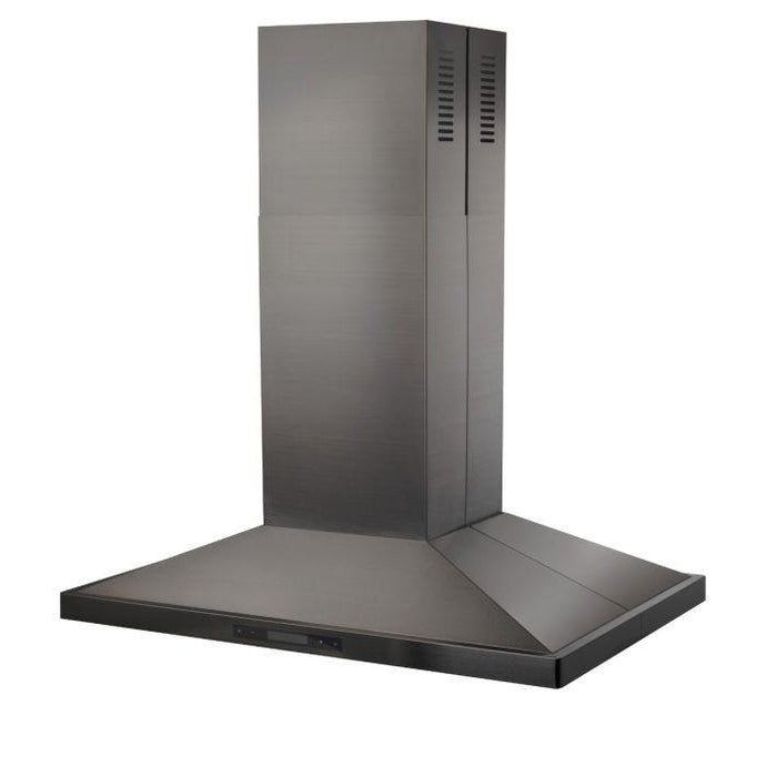 ZLINE 30-48 in. Island Mount Black Stainless Steel Range Hood (BSGL2iN-30) - Bison Kitchens