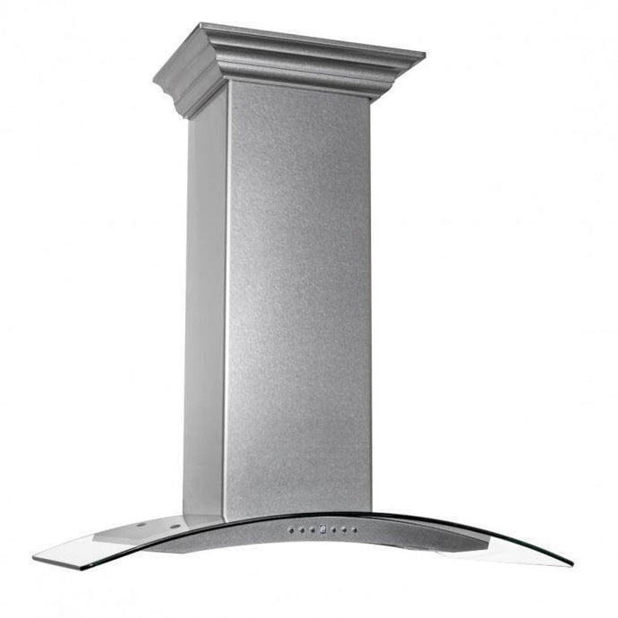ZLINE 30-36 in. DuraSnow Stainless Steel - Glass Wall Mount Range Hood  (8KN4S-30) - Bison Kitchens