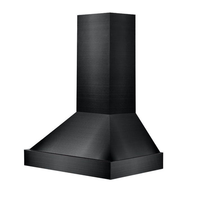 ZLINE 30-48 in. Black Stainless Steel Wall Mount Range Hood - (BS655N-30) - Bison Kitchens