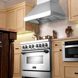 ZLINE 30-48 in. Stainless Steel Remote Blower Wall Range Hood (687-RS-30) - Bison Kitchens